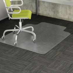 "Deflecto® DuraMat Chair Mat For Low-Pile Carpet, Wide Lip, 45""W x 53""D, Clear"