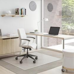 """Deflect-O® SuperMat Medium Weight Chair Mat For Carpet, 60"""" x 46"""", Clear"""