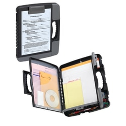 Office Depot® Brand Form Holder Storage Clipboard Case, Charcoal