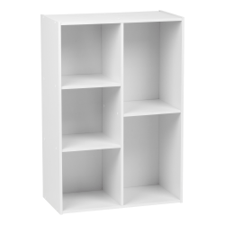"IRIS 35""H 5-Compartment Organizer Bookcase, White"