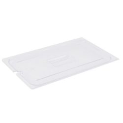 Cambro Full Size Camwear Notched Food Pan Cover, Clear