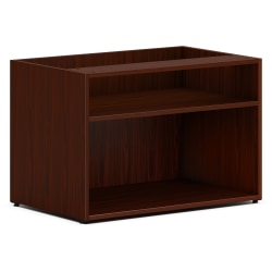 "HON Mod Low Storage Credenza - 30"" x 20"" x 21"" - Finish: Mahogany Laminate"