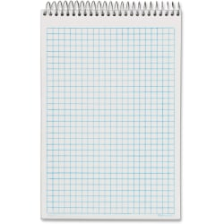 """Tops NoteWorks Steno Book - 100 Sheets - Coilock Blue Margin - 16 lb Basis Weight - 6"""" x 9"""" - White Paper - Metallic Gold Cover - Plastic Cover - Perforated, Unpunched - 1Pad"""