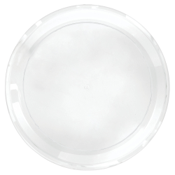"Amscan Round Plastic Platters, 16"", Clear, Pack Of 5 Platters"