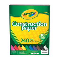 "Crayola® Construction Paper, Assorted Colors, 9"" x 12"", Pack Of 240"
