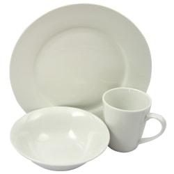 Gibson Home Noble Court 12-Piece Fine Ceramic Dinnerware Set, White