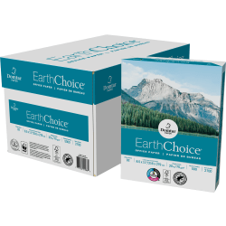 """Domtar EarthChoice® Office Paper, Letter Size (8 1/2"""" x 11""""), 92 (U.S.) Brightness, 20 Lb, FSC® Certified, Ream Of 500 Sheets, Case Of 10 Reams"""