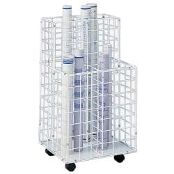 Safco® Wire Roll File, 4 Compartments, White