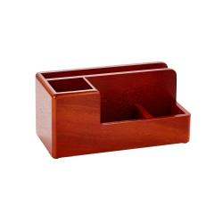 Rolodex® Wood Tones™ Desk Organizer, Mahogany