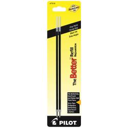 Pilot® Ballpoint Pen Refills, For Better Ball And EasyTouch Stick Pens, Fine Point, 0.7 mm, Black Ink, Pack Of 2