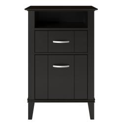 """Ameriwood™ Home Quinn 19-3/4""""D Vertical 2-Drawer File Cabinet, Espresso"""