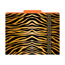 "Barker Creek Tab File Folders, 8 1/2"" x 11"", Letter Size, Tiger, Pack Of 12"