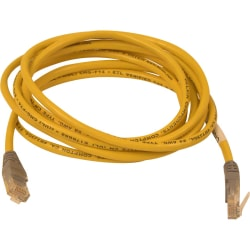 Belkin Cat5e Crossover Cable - RJ-45 Male Network - RJ-45 Male Network - 7ft - Yellow