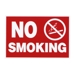 "Advantus ""No Smoking"" Wall Sign, 12"" x 8"", Red/White"