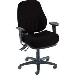 Lorell® Baily Series High-Back Multi-Task Chair, Black