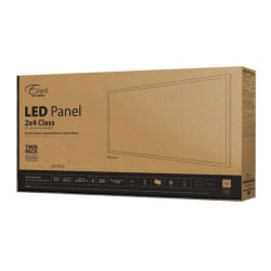 Euri Indoor LED Flat-Panel Fixtures, 2' x 4', 5000 Lumen, 40 Watts, 5000 Kelvin/Daylight, Pack Of 2 Fixtures