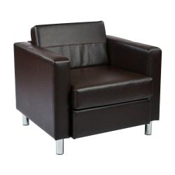 Office Star™ Avenue Six Pacific Arm Chair, Espresso/Chrome