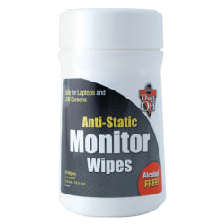 Dust Off Antistatic Monitor Wipes, Pack Of 80