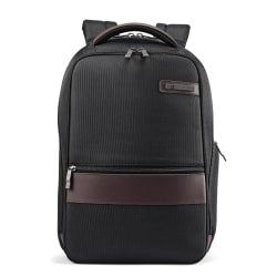 Samsonite® Kombi Slim Laptop Backpack, Black/Brown