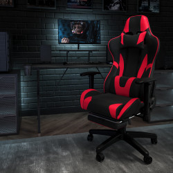 Flash Furniture X30 Ergonomic LeatherSoft Gaming Racing Chair, Red