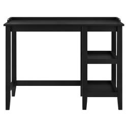 Ameriwood™ Home Eleanor Single Pedestal Desk, Black