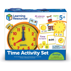 Learning Resources Time Activity Set - Theme/Subject: Learning - Skill Learning: Visual, Time, Problem Solving, Fine Motor, Self-help, Tactile Discrimination - 4 Year & Up