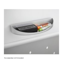 """Safco® Rumba™ Eraser Tray For Double-Sided Whiteboard/Collaboration Screen, 3 1/2""""H x 12 1/4""""W x 2 1/4""""D, Gray"""