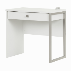 South Shore Interface 1-Drawer Desk, Pure White