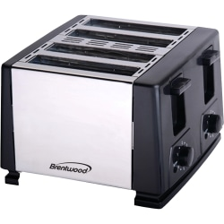 Brentwood Toaster - Toast - Brushed Stainless Steel, Black
