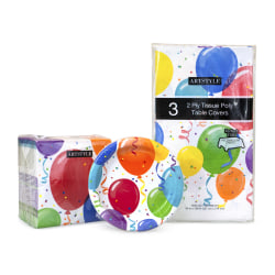 ARTSTYLE Birthday Plates, Napkin & Table Cover Combo, 3 Pack