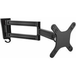 """StarTech.com Wall Mount Monitor Arm - Dual Swivel - Supports 13'' to 34'' Monitors - VESA Mount - TV Wall Mount - TV Mount - 1 Display(s) Supported27"""" Screen Support - 33.20 lb Load Capacity - 75 x 75, 100 x 100 VESA Standard"""