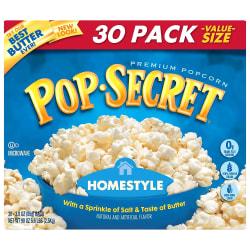 Pop Secret Premium Popcorn, Homestyle, 3 Oz, Pack Of 30