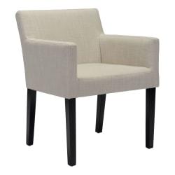 Zuo Modern Franklin Dining Chair, Beige/Black