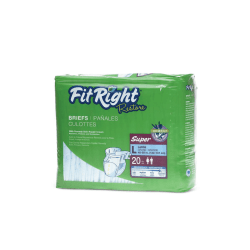 FitRight Restore Briefs, Large, Blue, Bag Of 20