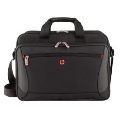 "Wenger® Mainframe Briefcase With 15.6"" Laptop Pocket, Black,"
