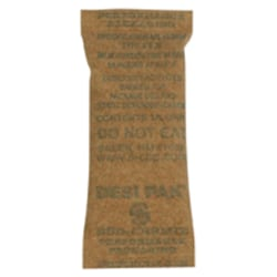 """Partners Brand Kraft Clay Desiccant Bags - 5 Gallon Pail 1"""" x 2 1/2"""" x 1/4"""", Case of 1,200"""
