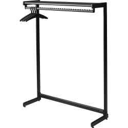 "Quartet One-Shelf Garment Rack, 61 1/2"" x 48"", Black"