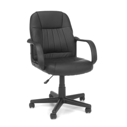 OFM Essential Series Vinyl Mid-Back Conference Chair, Black