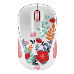 Front Zoom. Logitech - Design Collection Wireless Optical Mouse with Nano Receiver - Works with Chromebook - Spring Meadow.