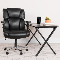 Flash Furniture Hercules 24-7 Intensive Use Big And Tall Office Chair With Lumbar Knob, Tufted Headrest And Back, Black/Gray