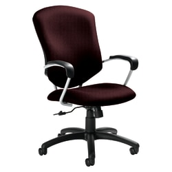 "Global® Supra™ High-Back Fabric Tilter Chair, 42""H x 26""W x 27""D, Ruby/Tungsten"
