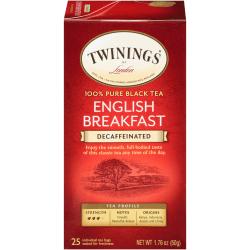 Twinings® English Breakfast Decaffeinated Tea Bags, Box Of 25