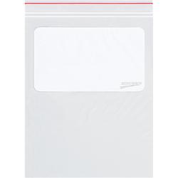 "Color Line 2 Mil Minigrip White Block Reclosable Poly Bags 8"" x 10"", Box of 1000"