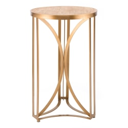 Zuo Modern Large Spinner Table, Round, Gold