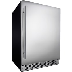 """Silhouette Niagara 24"""" Integrated All Refrigerator - DAR055D1BSSPR - 5.50 ft³ - 5.50 ft³ Net Refrigerator Capacity - Stainless Steel - Smooth - Tempered Glass Shelf - Built-in - LED Light"""