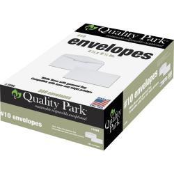 """Quality Park® Laser/Inkjet Envelopes, #10, 4 1/8"""" x 9 1/2"""", White, Box Of 500"""