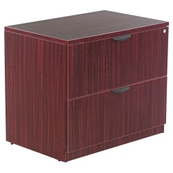 "Alera® Valencia 35""W Lateral 2-Drawer File Cabinet, Mahogany"