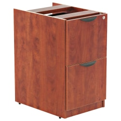 "Alera® Valencia 28""D Vertical 2-Drawer Pedestal File Cabinet, Medium Cherry"
