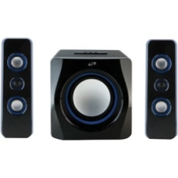 iLive IHB23B 150W 2.1 Bookshelf Bluetooth® Speaker System, Black/White