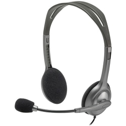 Logitech Stereo Headset H111 - Stereo - Mini-phone (3.5mm) - Wired - 32 Ohm - 20 Hz - 20 kHz - Over-the-head - Binaural - Supra-aural - 5.91 ft Cable - Noise Canceling